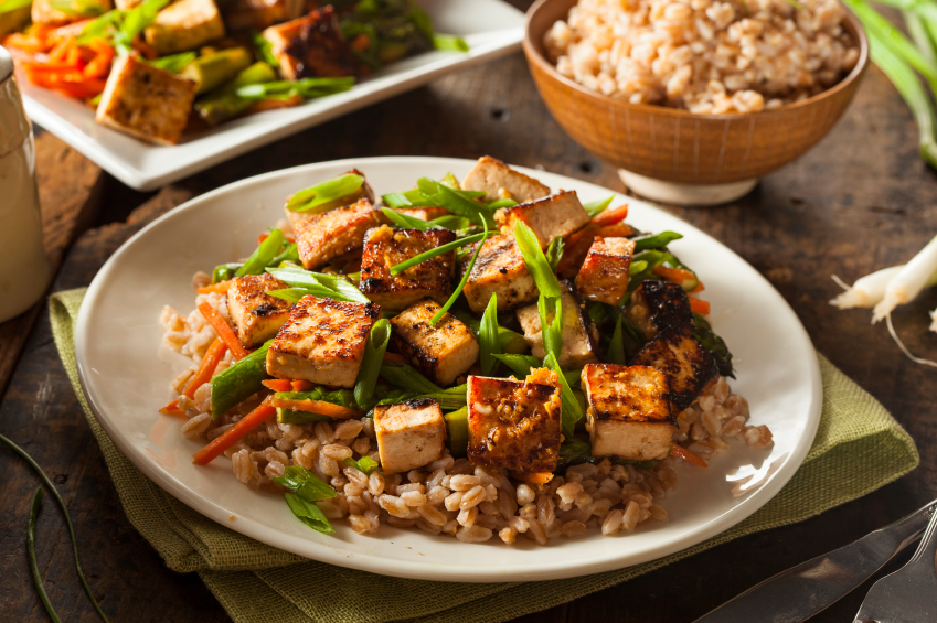 Tofu Stir Fry, Rice