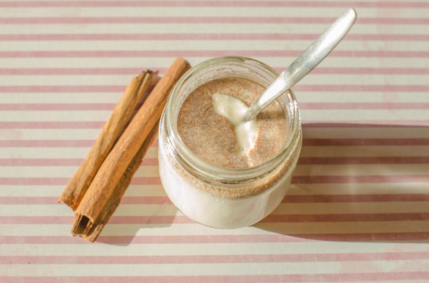 Milk, cinnamon, yogurt