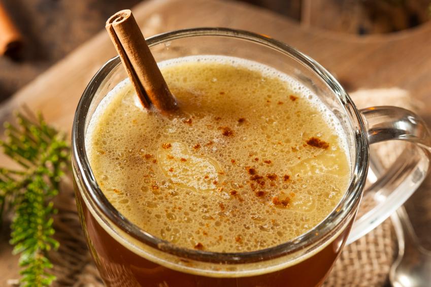 Hot Buttered Rum, drink, cinnamon
