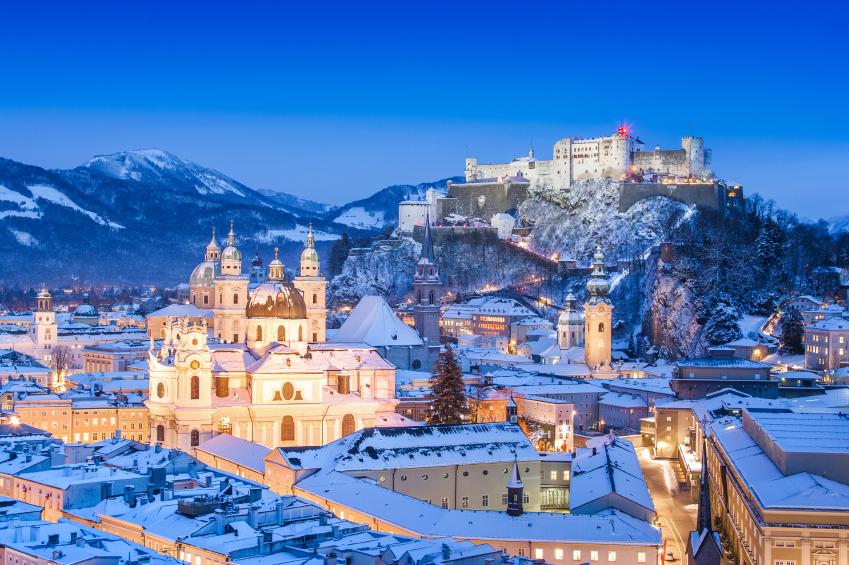A snowy scene in Austria