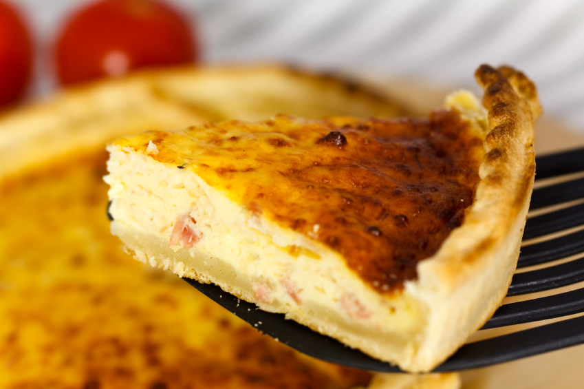 delicious slice of quiche