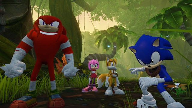 Sonic and friends from Sonic Boom: Rise of Lyric.