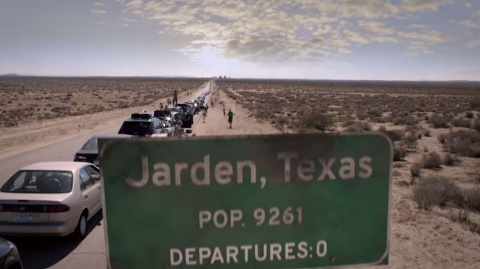 A sign for Jarden, Texas in The Leftovers
