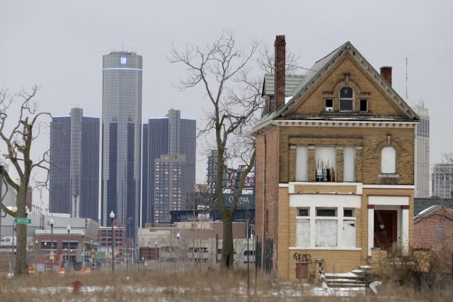 Run-down house in Detroit