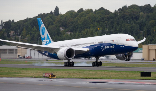 A Boeing 787 during a test flight