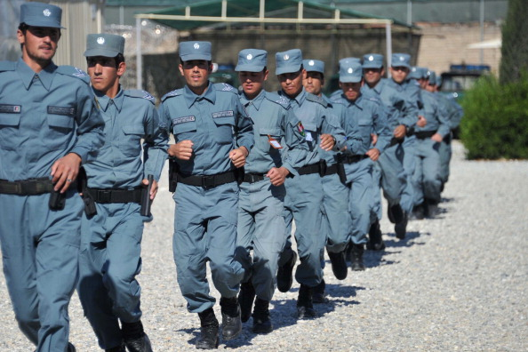 The Afghan defense force training