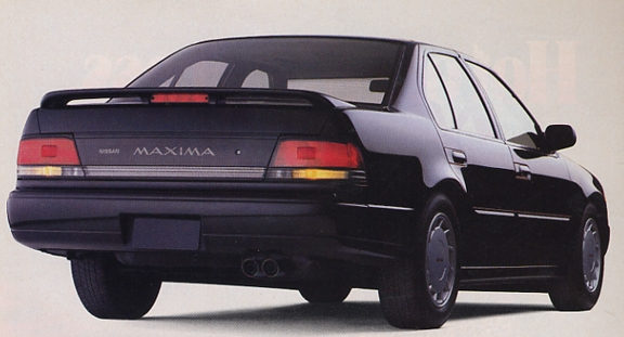 A rear view of the 1989 Nissan Maxima