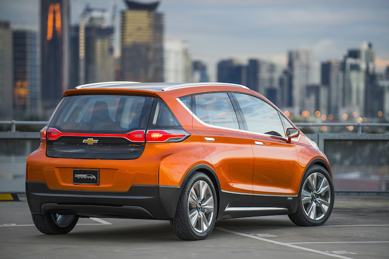 2015 Chevrolet Bolt EV Concept all electric vehicle – rear exterior