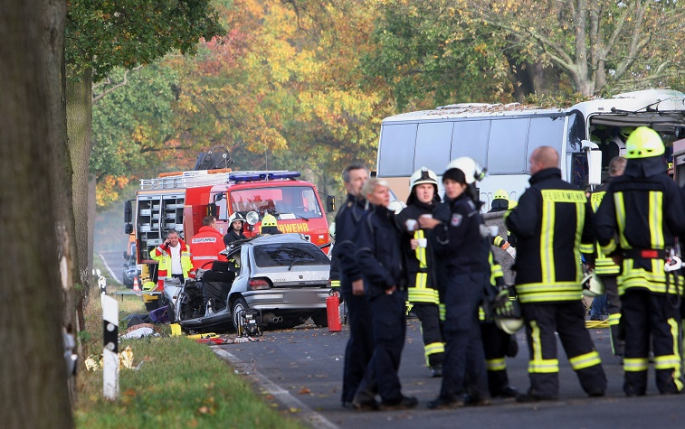 A car accident in Germany