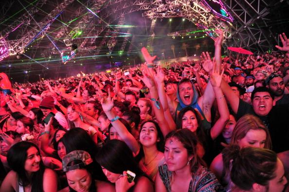 A crowd at Coachella