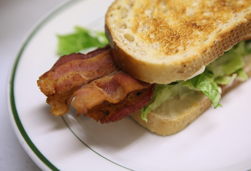 A bacon sandwich.