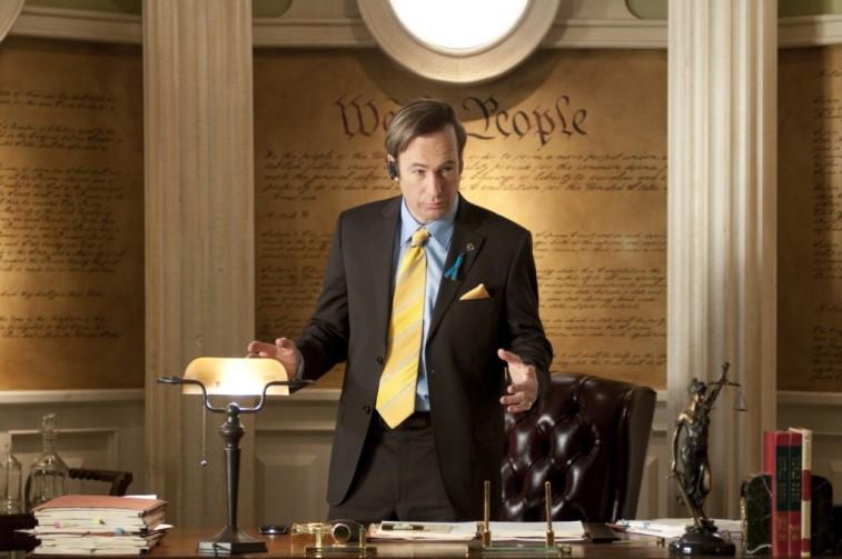 Saul Goodman takes a phone call