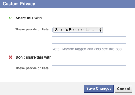 Custom Privacy Settings for Facebook Friends List