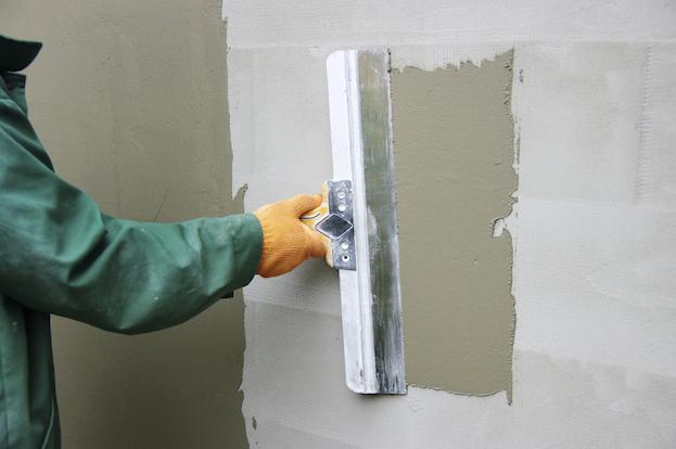 plaster on a wall