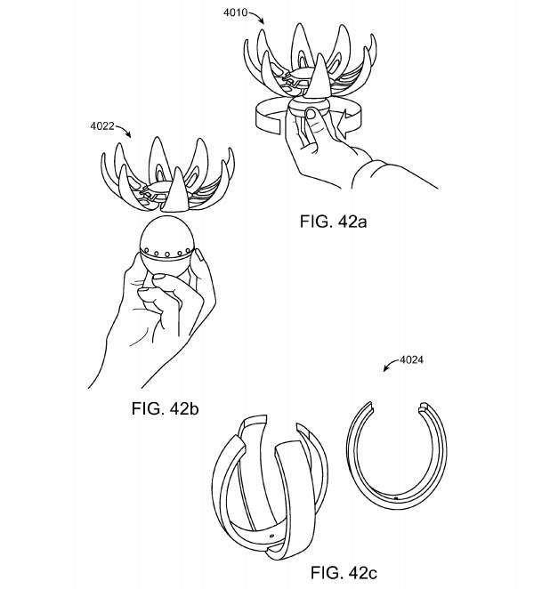 Magic Leap patent application Fig. 42a, 42b, 42c