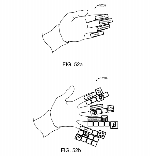 Magic Leap patent application Fig. 52a and 52b