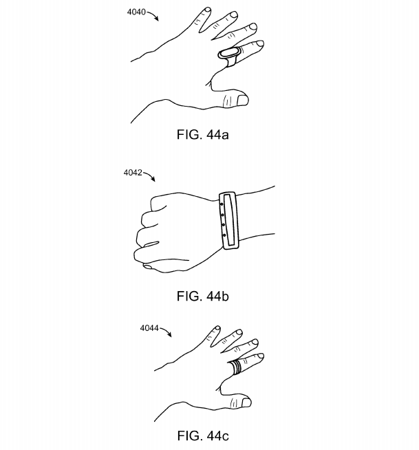 Magic Leap patent application fig. 44a, 44b, 44c