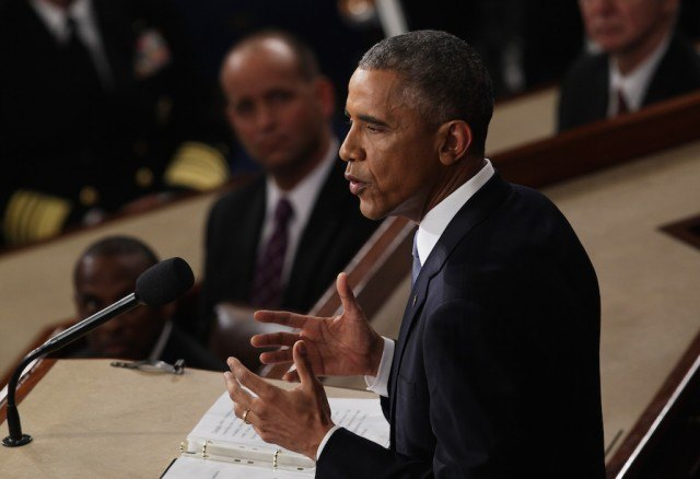 U.S. President Barack Obama delivers his State of the Union speech before members of Congress