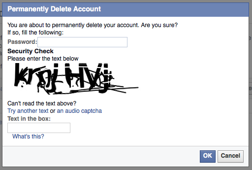 Steps to delete your Facebook account