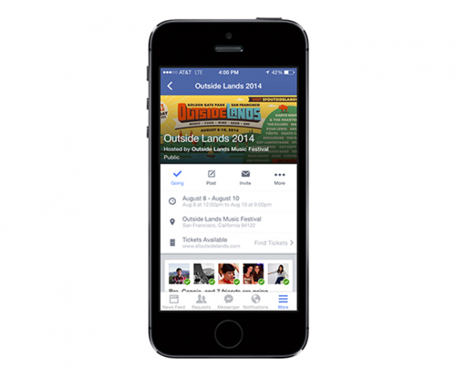 facebook how to see event