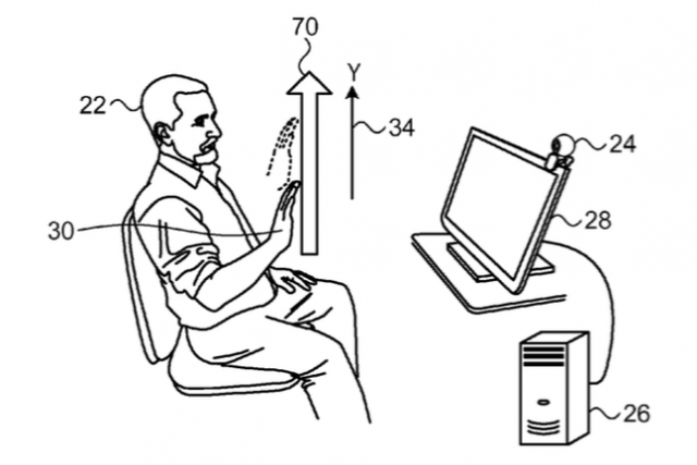 Apple patent for three-dimensional user interface session control