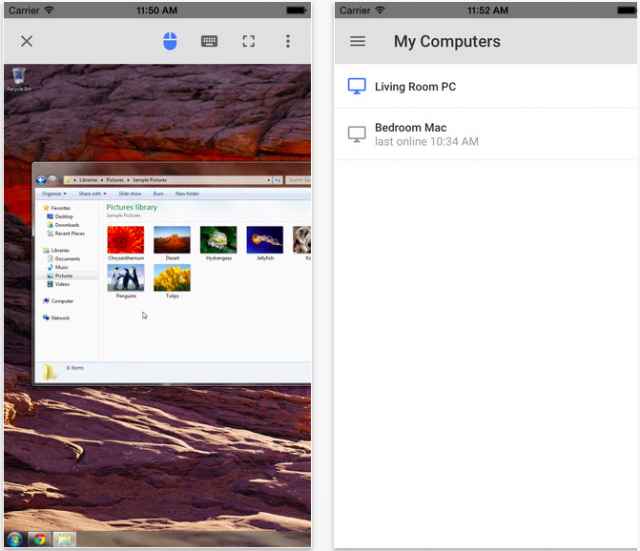 Chrome remote desktop for iOS