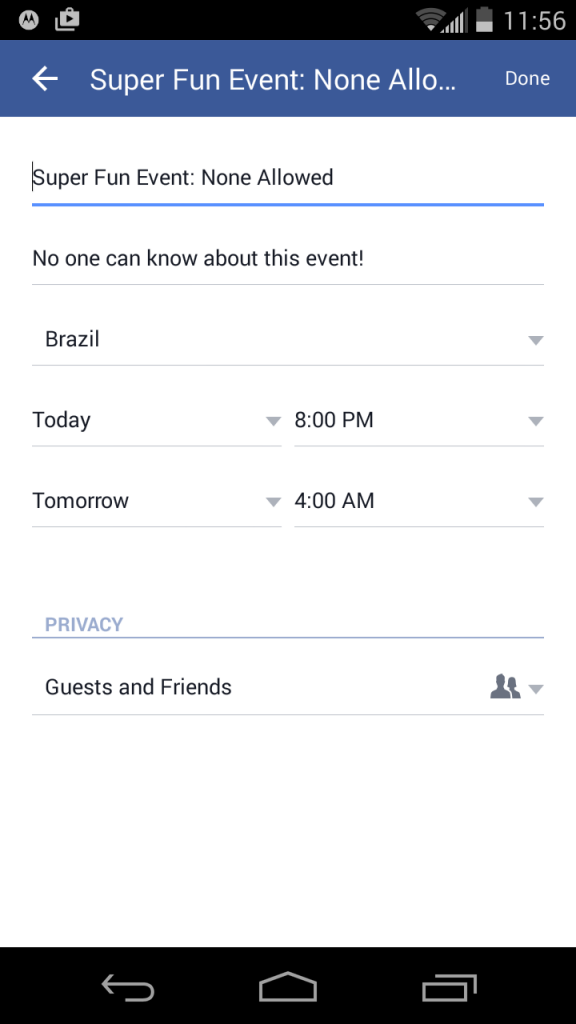 How to Create a Facebook Event on Facebook's Android App