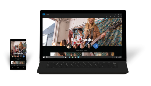 Windows 10 on phone and laptop