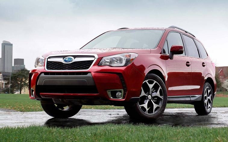 red Subaru Forester Turbo