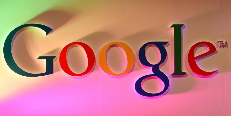 """The Google logo is displayed during the """"Google Impact Challenge - Source: Toshifumi Kitamura AFP/Getty Images"""