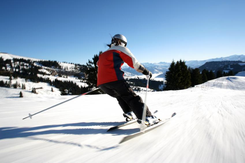 Skiier, Skiing, winter fitness