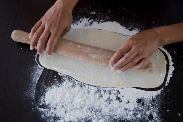 preparing pasta, dough