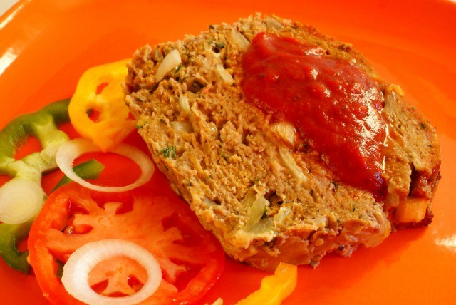 Meatloaf, bell peppers