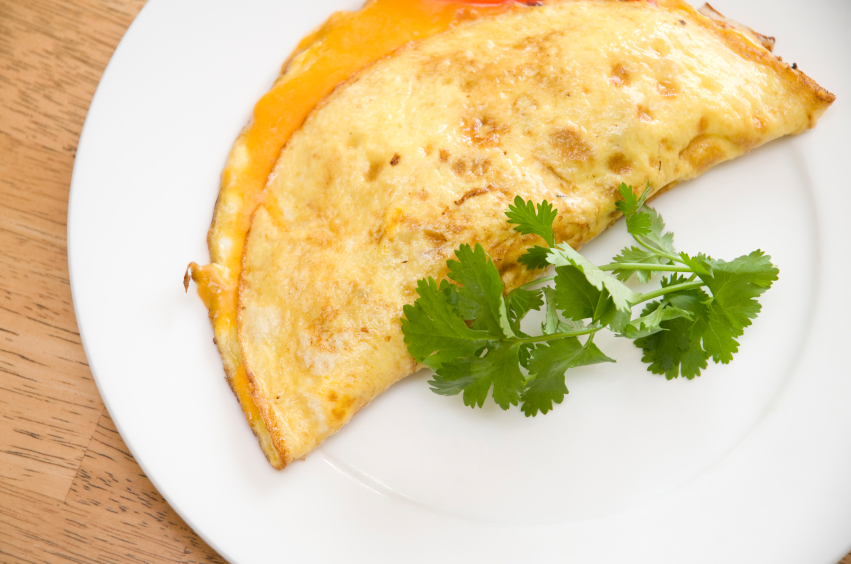 A fresh omelet with herbs