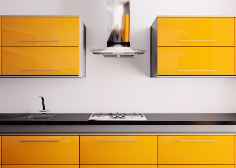 orange cabinets