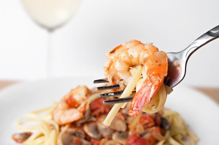 Shrimp Scampi, noodles, pasta