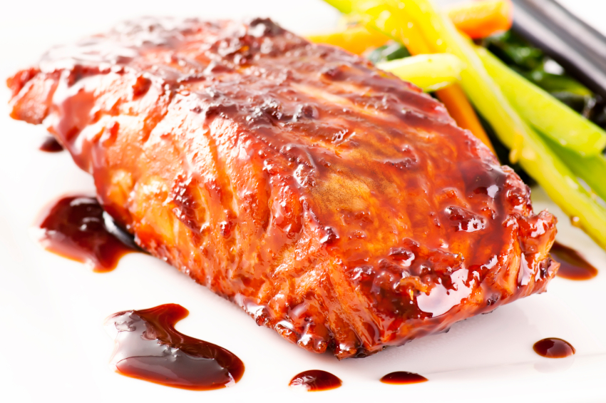 Teriyaki fish, salmon