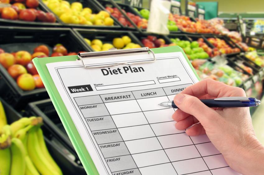 A shopper consults their dietary plan