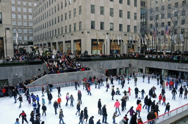 Rockefeller, ice skating, health, exercise, winter, cold