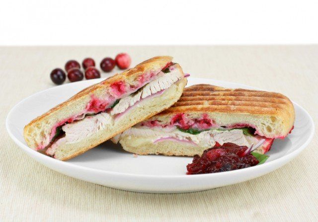 panini with turkey and cranberries