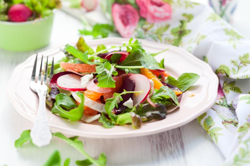 Beetroot salad, fennel, radish, grapefruit