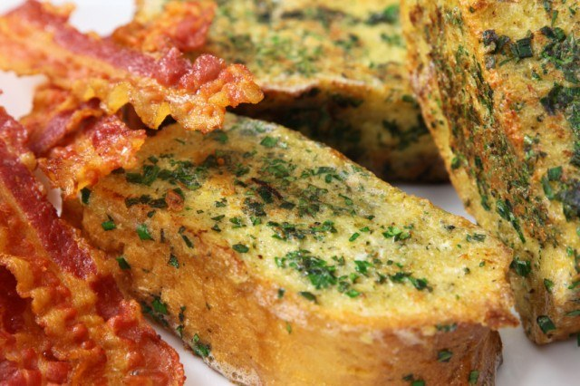 Savory Herb French Toast, Bacon