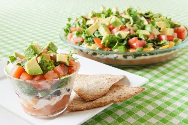 Mexican Layered Dip, avocado, tomato