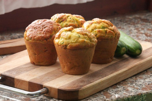 Zucchini and sun-dried tomato muffins