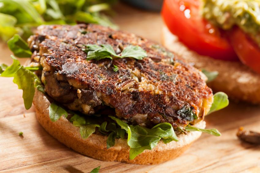 Vegetarian Mushroom Burger