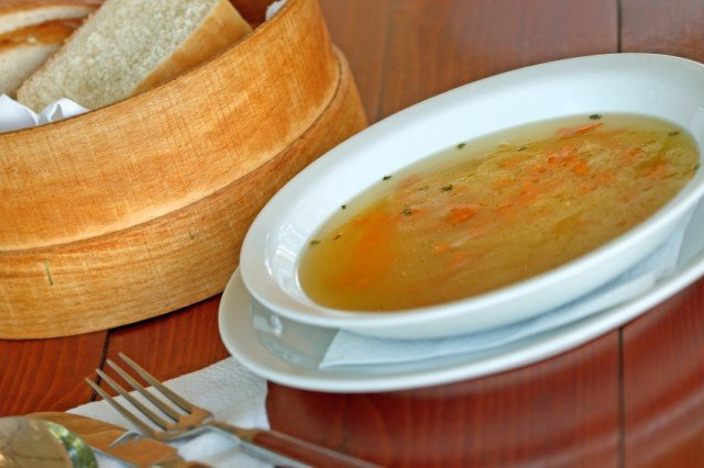 Soup, broth, carrots