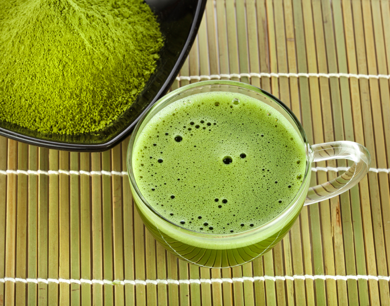 green tea, powder, drink