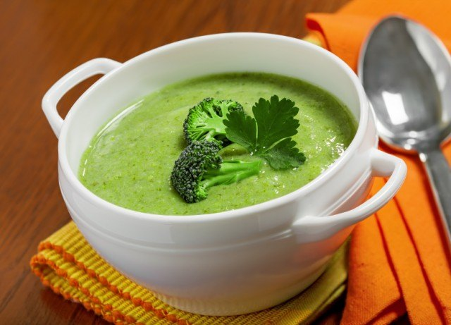 Broccoli cream soup, stew