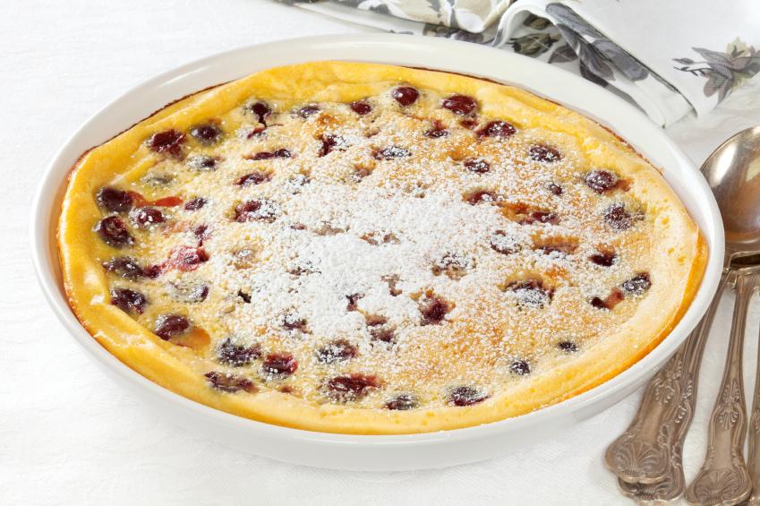 Cherry Clafoutis, dutch baby pancake
