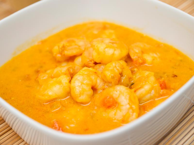 Coconut curry, shrimp